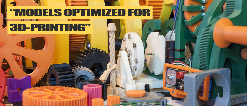Justpressprint 3d models optimized for 3d print