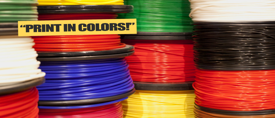 Justpressprint different color filament