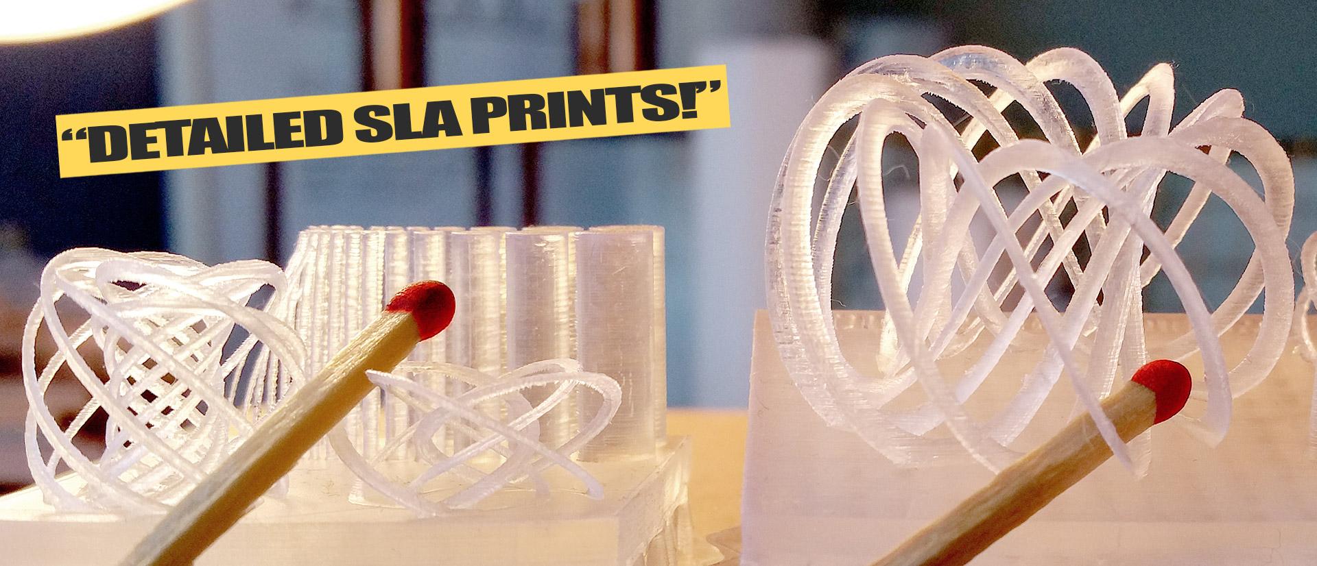 SLA detail 3d print fsl3d Pegasus