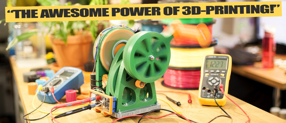Justpressprint 3d printed Power Generator v1 Awesome Power of 3d Printing