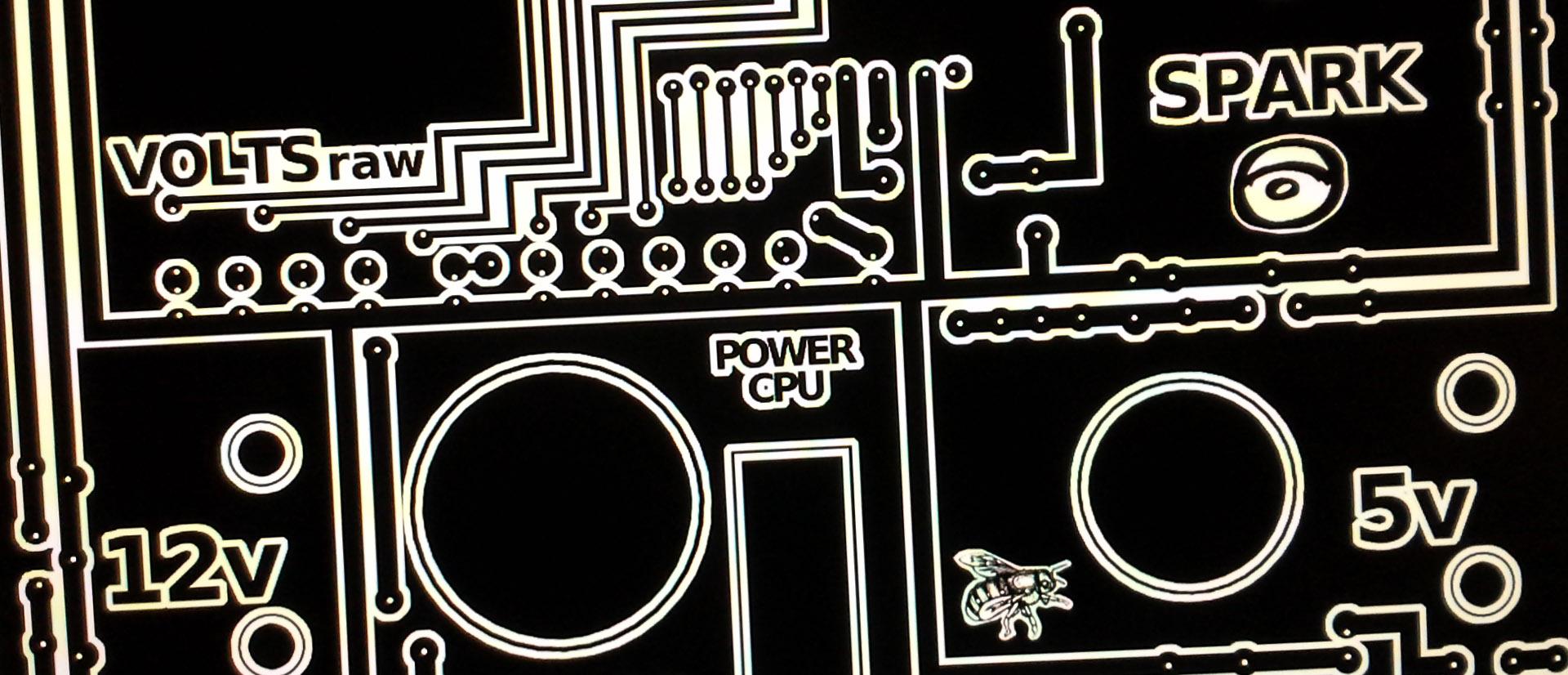 Justpressprint 3d printed Power Generator The Beest PCB input output control panel negative