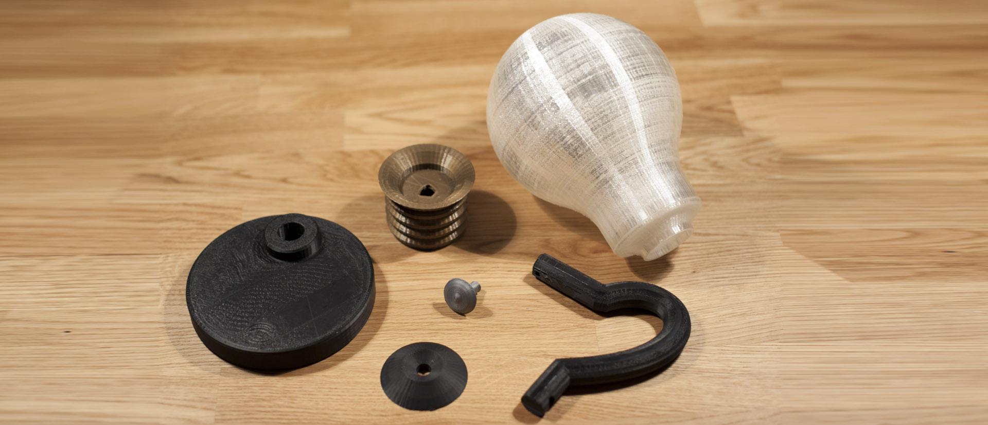 Justpressprint 3d printed Bulb Light parts