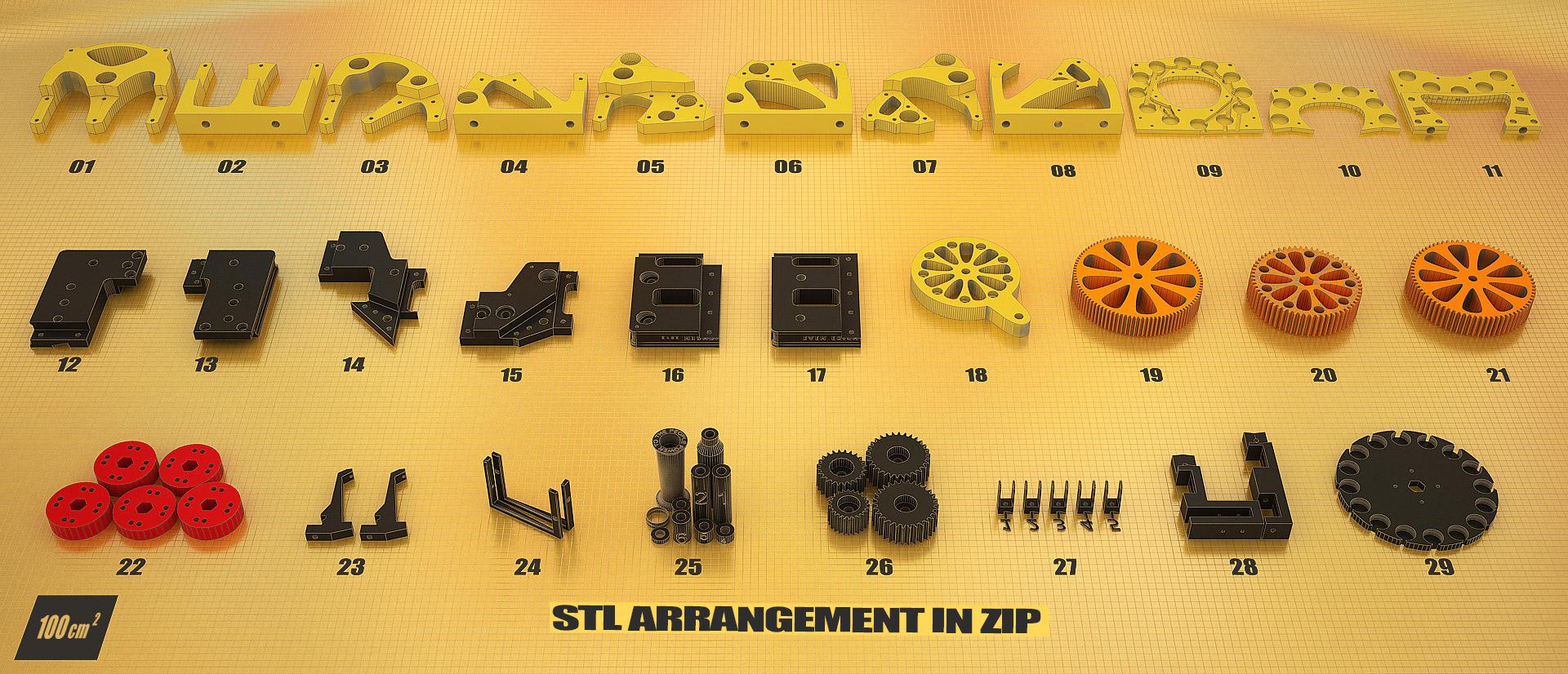 Justpressprint 3d print The Beest STL arrangement in zip