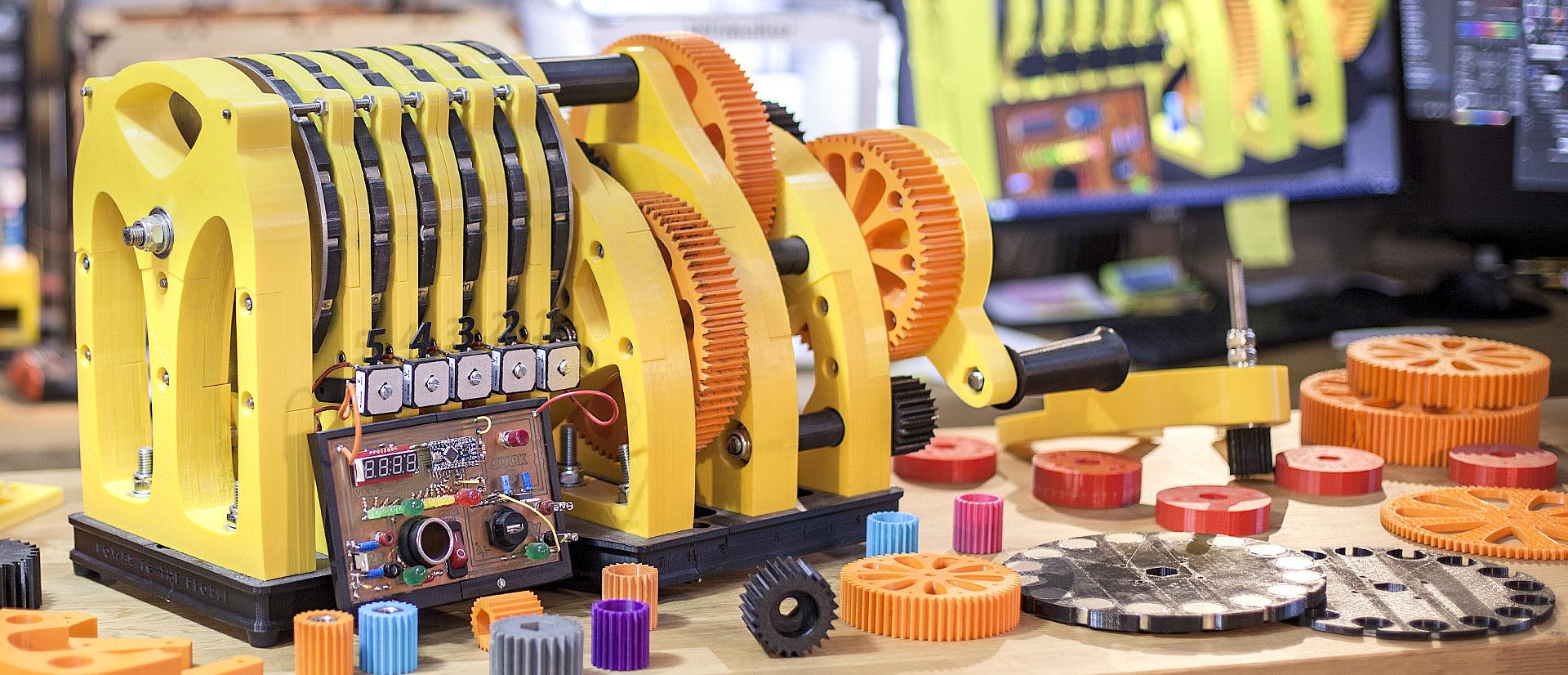 Justpressprint 3d printed Power Generator The Beest
