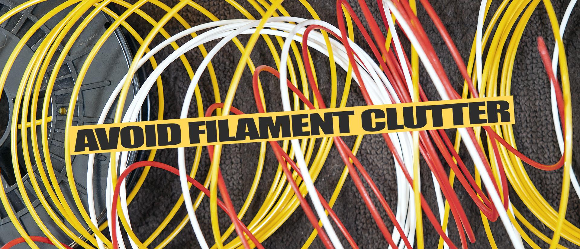 Justpressprint 3d printed Filament Clips Clutter