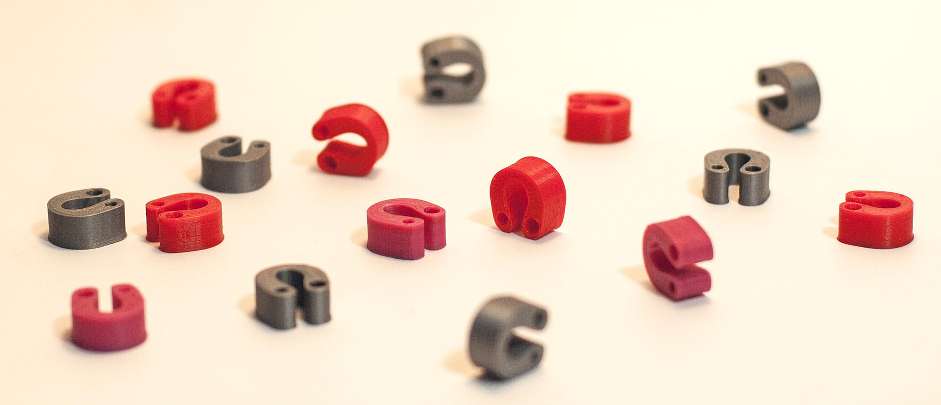 Justpressprint 3d printed Filament Clips