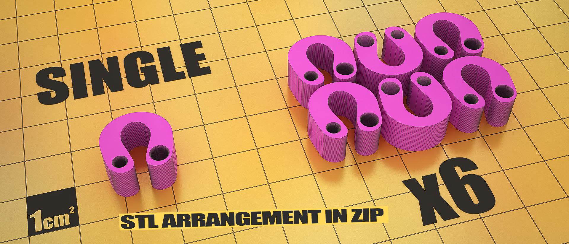 Justpressprint 3d print Filament Clip STL arrangement in zip