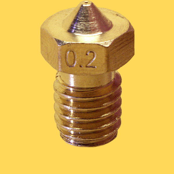 3d printer brass nozzle 1,75mm/0,2mm