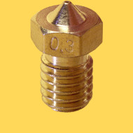 3d printer brass nozzle 1,75mm/0,3mm